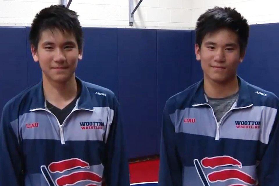 Sibling rivalry: Rockville twins wrestle on the mat and push each other to the top