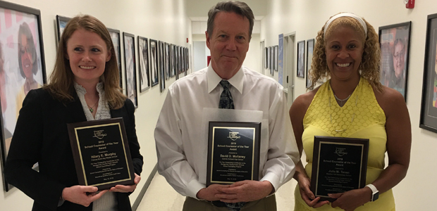 Three School Counselors Recognized with Top Honors