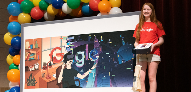 Northwest Student Is State Winner of Doodle for Google Contest