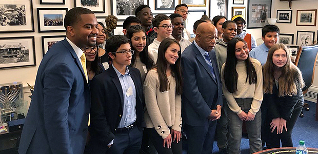 Student Leaders at Richard Montgomery Meet Civil Rights Icon John Lewis