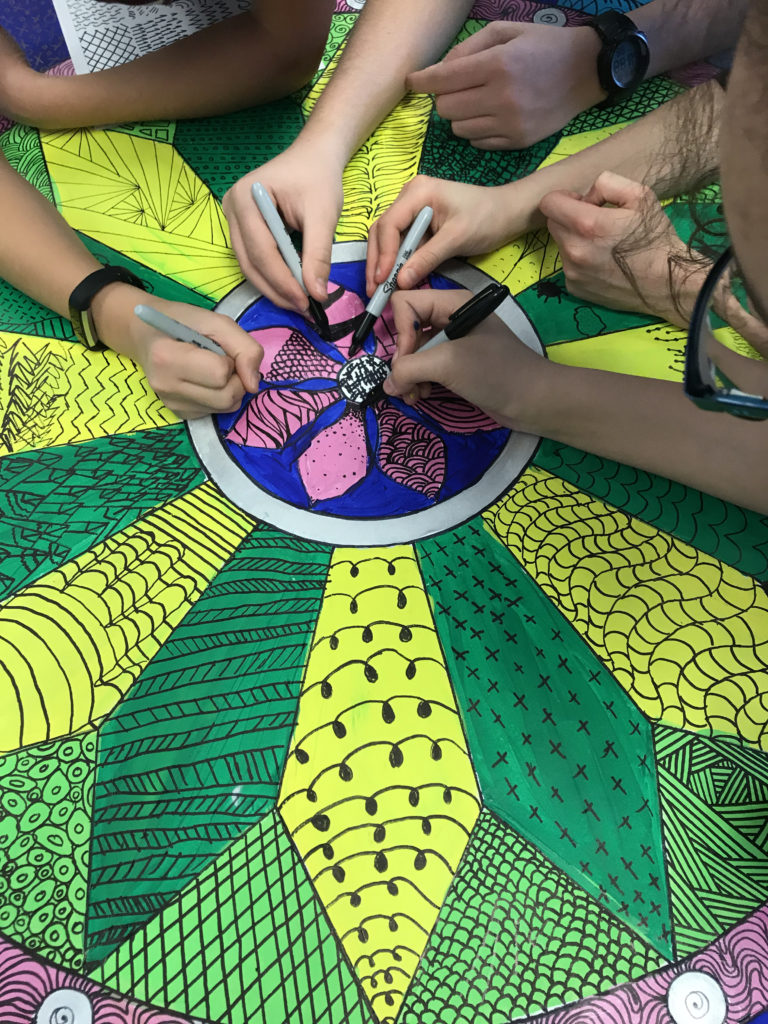 Silver Spring students create mural of community highlighting unity