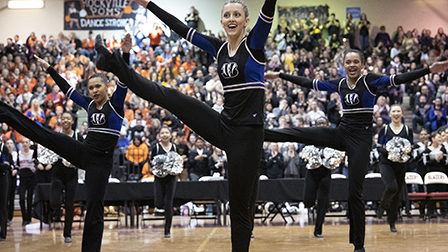 POMPON SQUADS SHOWCASE THEIR MOVES DURING COMPETITION