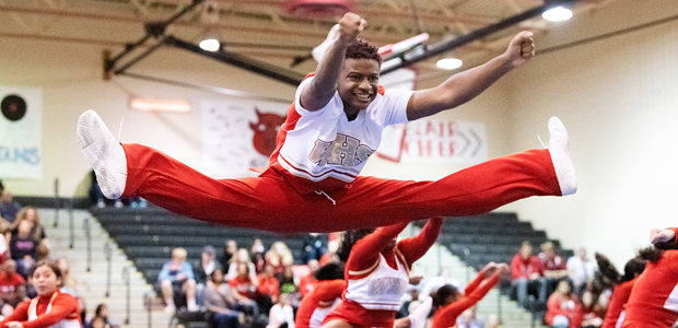 Cheerleaders Take Center Stage at Annual Competition
